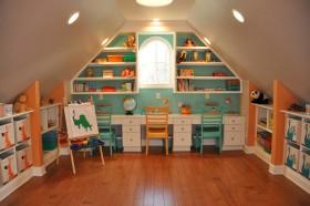橙色简约儿童房装修布置