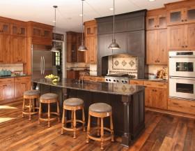橙色个性大气美式风格厨房图片