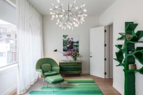 绿色现代风格阳台装修布置