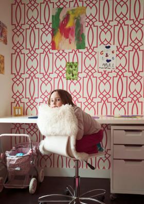 红色简约风格儿童房设计装潢