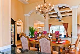 橙色欧式风格餐厅设计欣赏