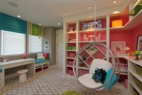 个性创意童趣简约风儿童房休闲区效果图欣赏