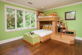 2016绿色田园风格儿童房装饰案例
