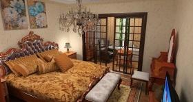 橙色美式卧室美图