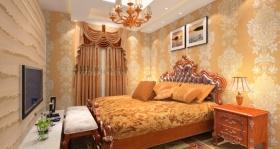 橙色欧式卧室装潢