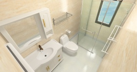 米色清爽现代风格卫生间设计