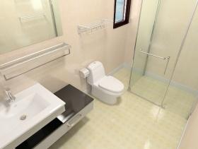 清爽极致简约白色2106卫生间装饰图