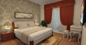 简约风格橙色卧室装修设计