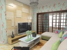 田园风格客厅装饰设计图片
