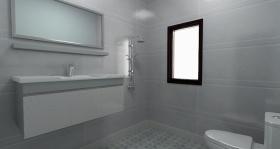 灰色简约风格卫生间装潢设计欣赏