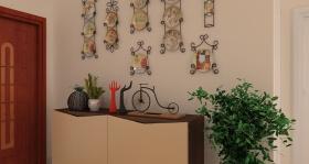 简约风格米色玄关装饰墙效果图