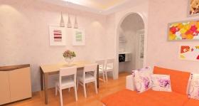 橙色简约风格餐厅设计案例