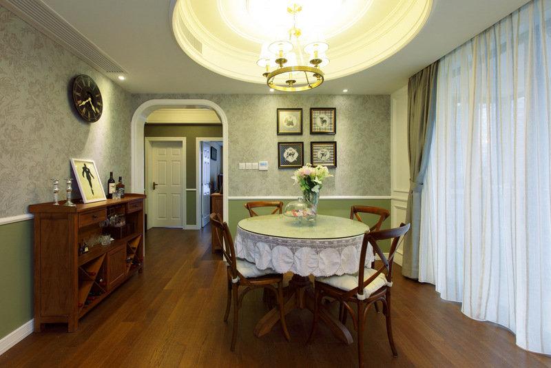 原木雅致美式风格餐厅设计