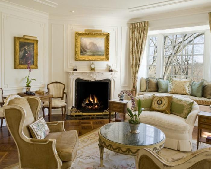 低奢浪漫欧式风格客厅装修图片