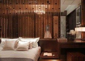 新古典风格质感原木色隔断装饰设计图片