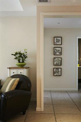 米色美式风格照片墙设计图