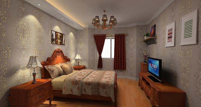 休闲欧式风格卧室装修效果图