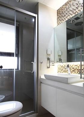 现代时尚清爽灰色卫生间欣赏