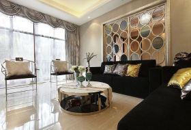 优雅精致欧式时尚客厅装潢装修图片