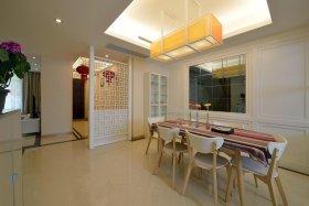 米色新中式风格餐厅吊顶装修