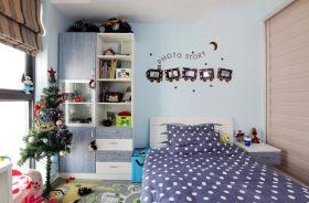 个性混搭蓝色儿童房装修效果图