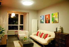 黄色创意混搭客厅图片