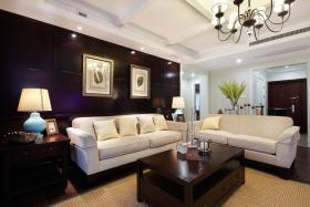 现代风格时尚黑色客厅装潢案例