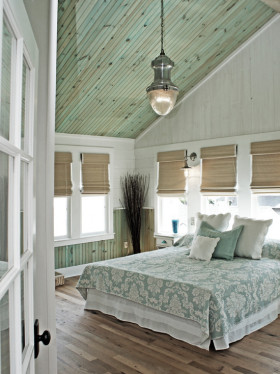 绿色清新东南亚风格阁楼吊顶图片欣赏