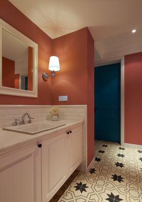 橙色大方现代风格卫生间装修设计