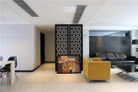 黑色现代客厅隔断图片赏析