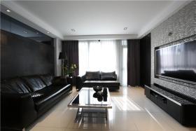 黑色摩登现代客厅设计