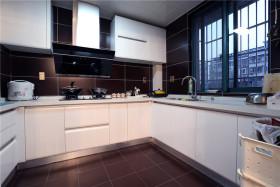 褐色简约风格厨房橱柜设计案例