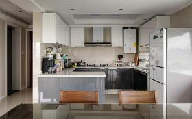 精致时尚灰色现代厨房美图赏析