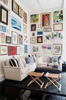 简约时尚照片墙装修设计欣赏