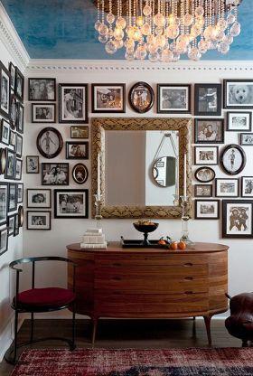 华丽个性摩登混搭风格照片墙设计图