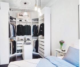 白色宜家风格卧室衣柜效果图欣赏