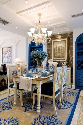 蓝色浪漫地中海风格餐厅图片欣赏