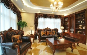 美式奢华雅致风格客厅装潢设计