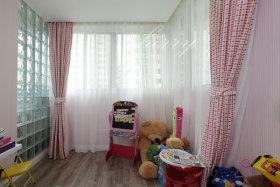 淡雅唯美现代风格粉色窗帘设计赏析