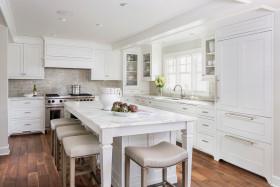 白色自然田园风格厨房装潢