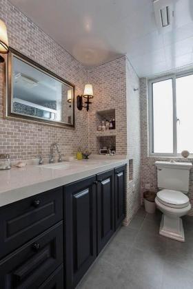 大气复古雅致美式风格米色卫生间欣赏