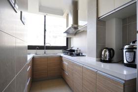 灰色简约风格厨房橱柜装潢案例