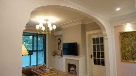 米色美式风格客厅隔断美图欣赏