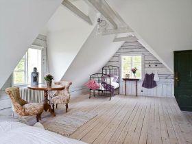 田园风格精致简约阁楼设计案例