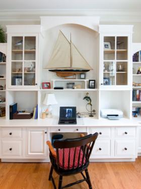 海边风简欧雅致风格书房装修设计