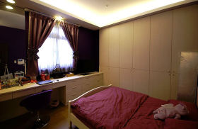 混搭风格唯美温馨卧室窗帘美图欣赏