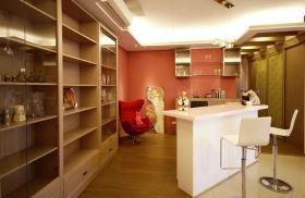 粉红个性简约风格吧台装修案例