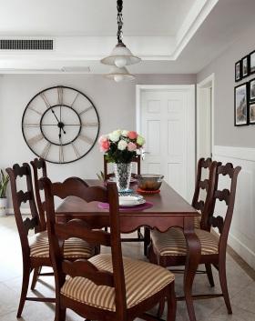 东南亚风格清新白色餐厅效果图设计