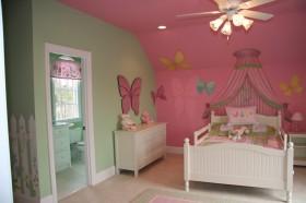 粉色混搭风格儿童房美图欣赏