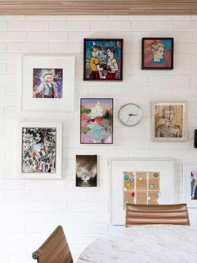 简洁现代风格照片墙装修效果图